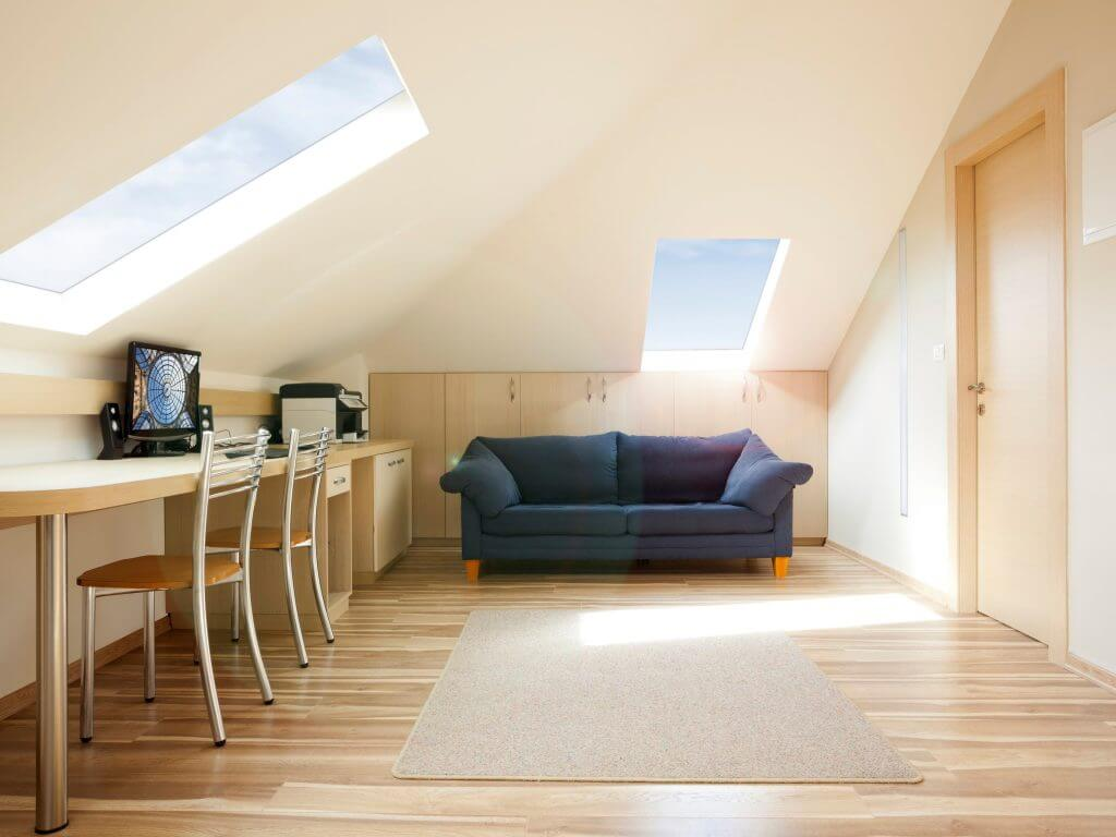 Modern loft conversion with Luxlite windows