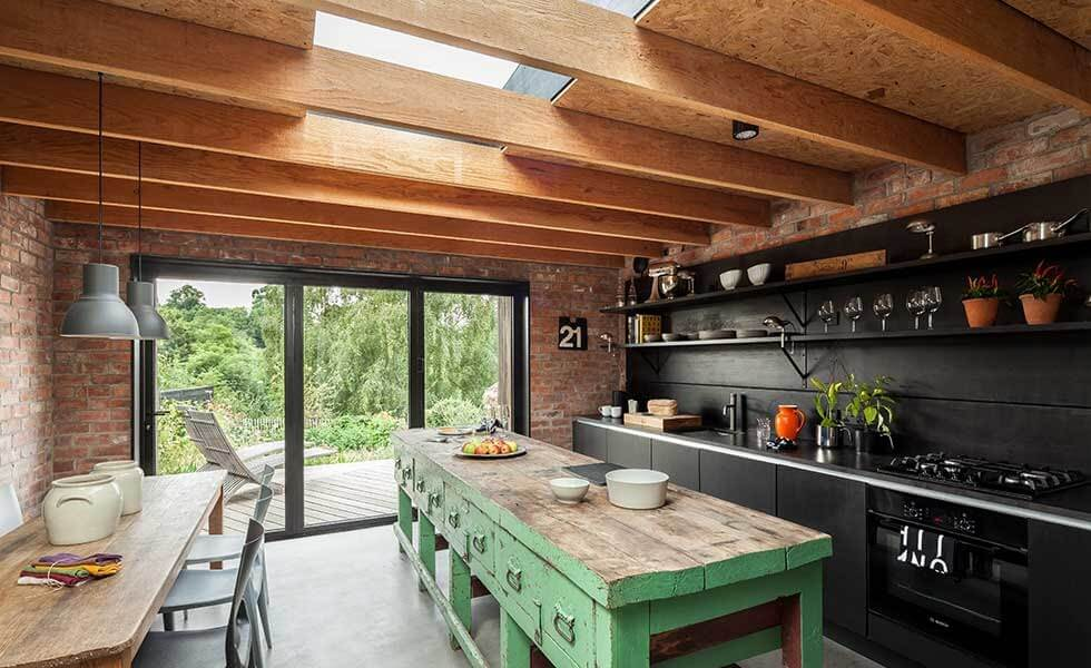 Britsol Miner's Cottage Rooflight in kitchen