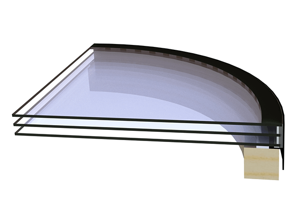Round rooflight glazing