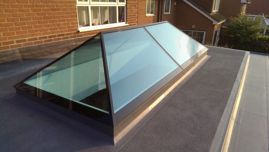 Slimline Roof Lantern With Built In Insulated Upstand