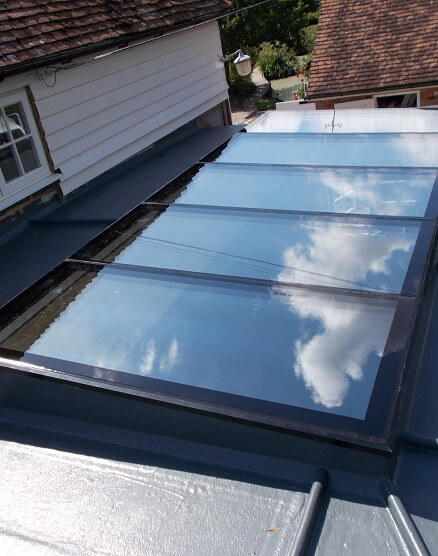 narrow fixed flat rooflights