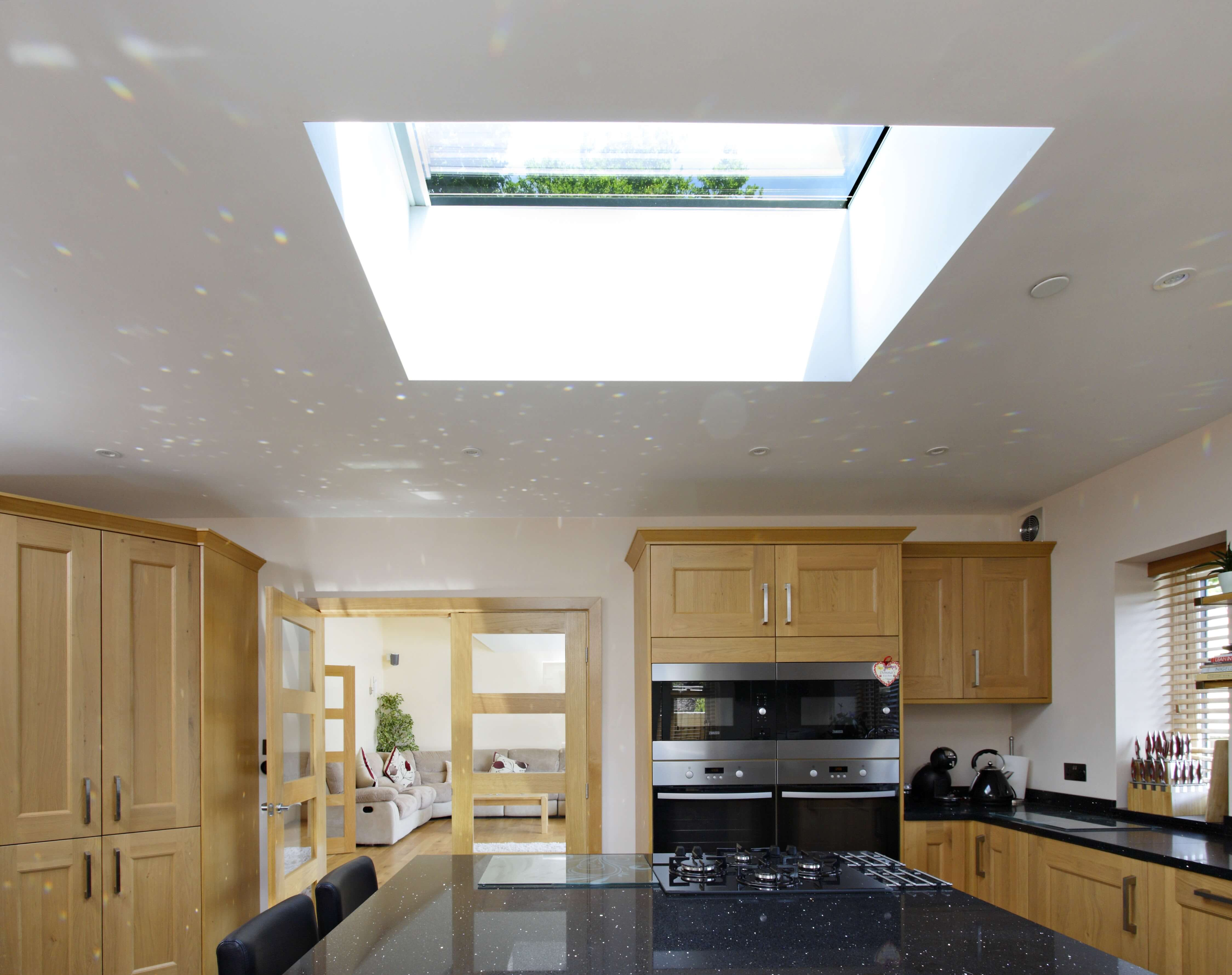 flat rooflight in kitchen