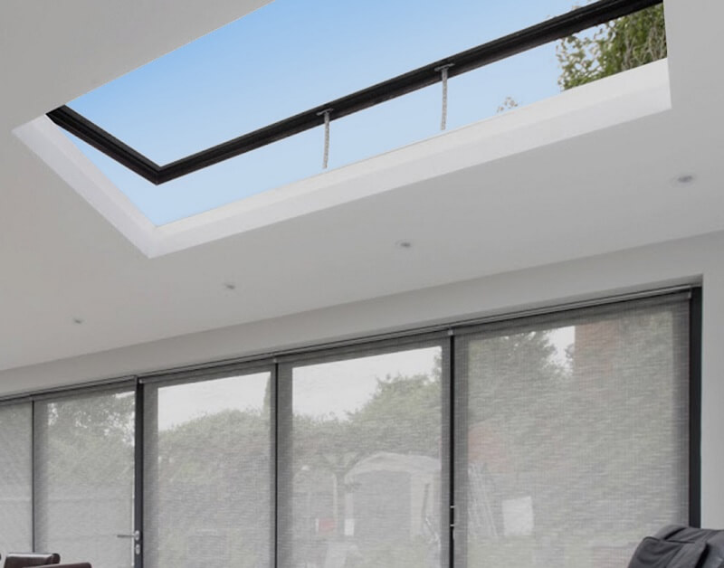 opening rooflight in living room