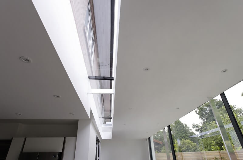 Long modular rooflights extension