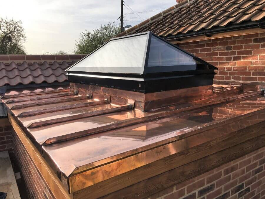 copper roof extension