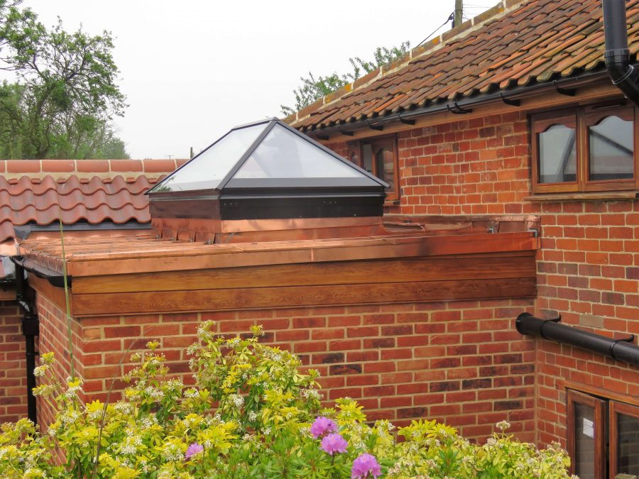 sample copper roof extension