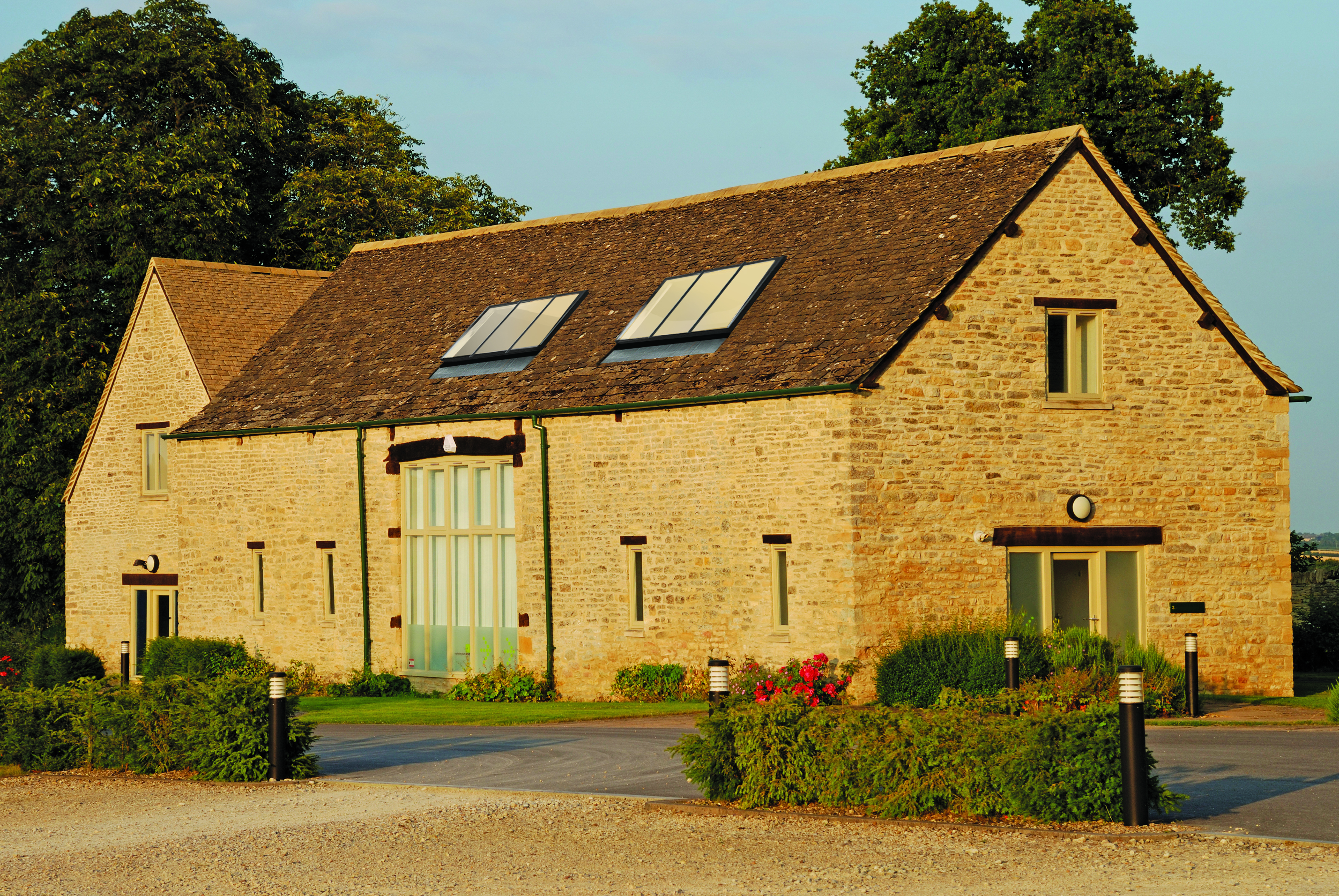 Barn conversion with conservation luxlite rooflights
