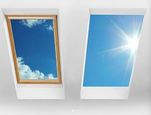 Comparison on luxlite and regular skylight window