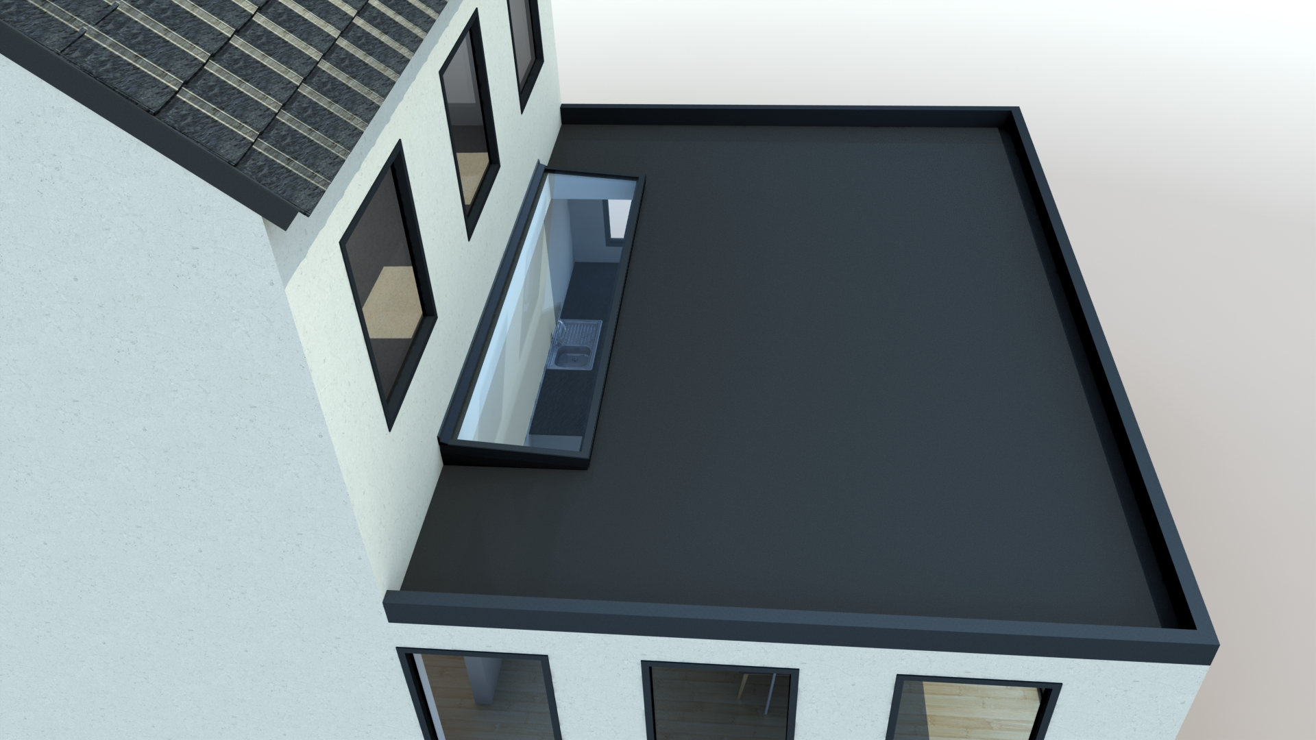 Wall Abutment Rooflights High Quality Low Maintenance